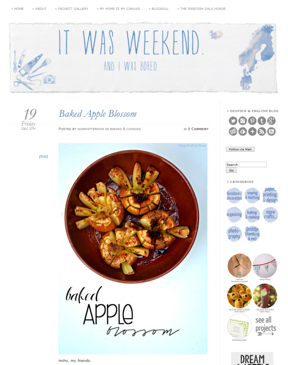 Baked Apple Blossom - It Was Weekend. And I Was Bored. 2014-12-29 18-15-58